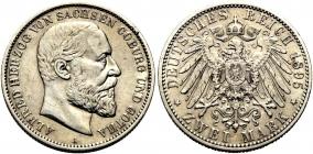 Sachsen-Coburg-Gotha - J 145 - 1895 A - Alfred (1893 - 1900) - 2 Mark - vz min. RF