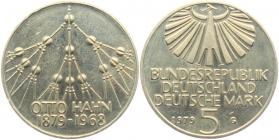 BRD - J 426 - 1979 - Otto Hahn - 5 Mark - bankfrisch