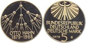 BRD - J 426 - 1979 - Otto Hahn - 5 Mark - PP in Kapsel