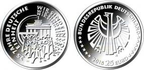 BRD - 2015 - 25 Jahre Deutsche Einheit - 25 Euro - bankfrisch - Prägebuchstabe unserer Wahl