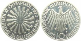 BRD - J 401a - 1972 F - 10 Mark - Olympische Spiele 1972 in München - Spirale in Deutschland - 10 Mark - bankfrisch