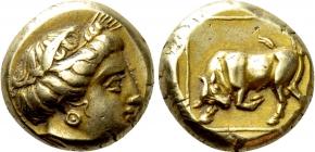 Griechenland - Lesbos - El. Hecte - Mytilene (337 - 326) Ch XF (ss-vz)