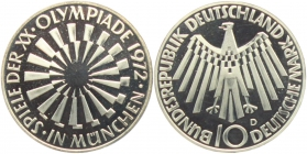 BRD - J 401b - 1972 - 10 Mark - Olympische Spiele 1972 in München - Spirale in München - 10 Mark - PP - Prägebuchstabe unserer Wahl