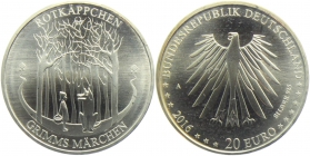 BRD - J 604 - 2016 - Grimms Märchen - Rotkäppchen - 20 Euro - bankfrisch