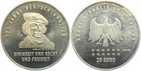 BRD - J 611 - 2016 - Deutschlandlied - August Heinrich Hoffmann von Fallersleben - 20 Euro - bankfrisch