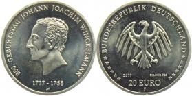 BRD - J 622 - 2017 - 900. Geburtstag von Johann Joachim Winckelmann - 20 Euro - bankfrisch