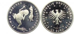 BRD - J 623 - 2018 - Grimms Märchen - Froschkönig - 20 Euro - bankfrisch