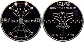 BRD - J 633 - 2018 - 100. Geburtstag von Ernst Otto Fischer - 20 Euro - bankfrisch