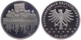 BRD - J 634 - 2019 - 10 Jahre Frauenwahlrecht - 20 Euro - bankfrisch