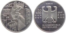 BRD - J 636 - 2019 - 100 Jahre Bauhaus - 20 Euro - bankfrisch