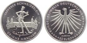 BRD - J 638 - 2019 - Grimms Märchen - Das tapfere Schneiderlein - 20 Euro - bankfrisch