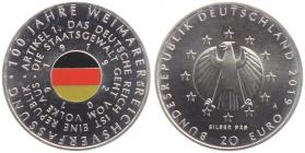 BRD - J 640 - 2019 - 100 Jahrer Weimarer Verfassung - 20 Euro - bankfrisch