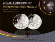 BRD - J 604 - 2016 - Grimms Märchen - Rotkäppchen - 20 Euro - PP im Blister