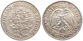 Weimarer Republik - J 331 - 1929 J - Eichbaum - 5 Reichsmark - ss+