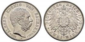 Sachsen - J 127 - 1902 E - König Albert (1873 - 1902) - Auf seinen Tod - 2 Mark - st