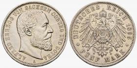 Sachsen-Coburg-Gotha - J 146 - 1895 A - Alfred (1893 - 1900) - 5 Mark - vz