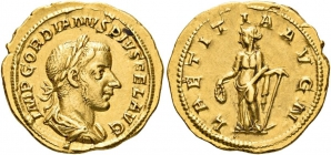 Römische Kaiserzeit - Aureus - Gordian III. (238 - 244) - f.vz