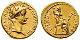 Römische Kaiserzeit - Aureus - Tiberius (18 - 35) - vz