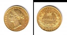 Australien - 1859 - Queen Victoria (1837 - 1901) - 1 Sovereign ss+