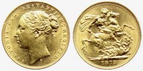 Australien - 1873 S - Queen Victoria (1837 - 1901) - 1 Sovereign vz-st min. RF