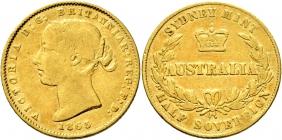 Australien - 1865 - Queen Victoria (1837 - 1901) - 1/2 Sovereign ss