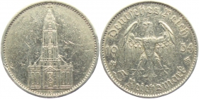Drittes Reich - J 357 - 1934 E - Garnisonskirche in Potsdam - ohne Datum -  5 Reichsmark - ss+