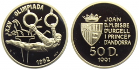 Andorra - 1991 - Olympische Spiele 1992 - Ringe - 50 Diners - PP