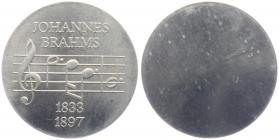 DDR - J 1540 A - 1972 - Johannes Brahms - Aluabschlag - 5 Mark - prägefrisch