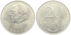 DDR - J 1548 - 1973 - Otto Grotewohl - 20 Mark - st