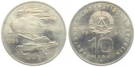 DDR - J 1589 - 1981 - 25 Jahre NVA - 10 Mark - st