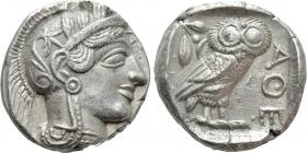Griechenland - Attika - 454-404 v. Chr. - Behelmte Athena - Tetradrachme - f.vz