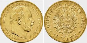 Preussen - J 245 - 1883 A - Wilhelm I. (1861 - 1888) -  10 Mark XF 45 (ss-vz) - in NGC-Slab