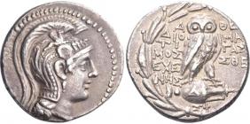 Griechenland - Attika - 146-145 v. Chr. - Behelmte Athena - Tetradrachme - vz