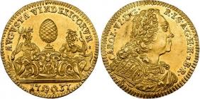 Augsburg - 1737 - Kaiser Karl VI. (1711-1740) - Wasserdukat - vz