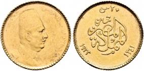 Ägypten - 1923 (AH 1341) - König Ahmed Fuad I. (1922-1936) - 20 Piaster - ss+