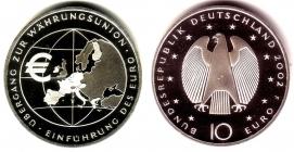 BRD - J 490 - 2002 - Einführung des Euro - Währungsunion - 10 Euro - bfr.