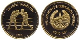 Laos - 1996 - Olympische Spiele 1996 in Atlanta - Boxen - 5000 Kip - PP