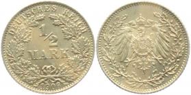Kaiserreich - J 16 - 1906 E - 1/2 Mark - f.st