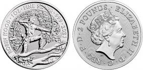 Großbritannien - 2021 - Robin Hood - 1 Unze - 2 Pounds - st