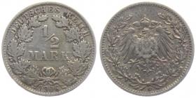 Kaiserreich - J 16 - 1906 E - 1/2 Mark - ss