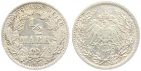 Kaiserreich - J 16 - 1906 A - 1/2 Mark - ss