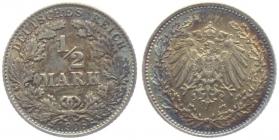 Kaiserreich - J 16 - 1906 D - 1/2 Mark - vz