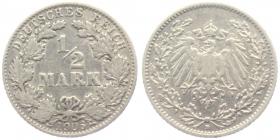 Kaiserreich - J 16 - 1906 D - 1/2 Mark - s-ss