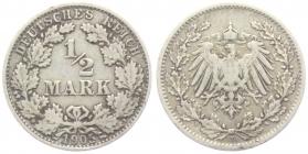 Kaiserreich - J 16 - 1905 D - 1/2 Mark - ss