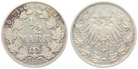 Kaiserreich - J 16 - 1905 G - 1/2 Mark - ss