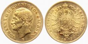 Sachsen - J 259 - 1873 E - Johann (1854-1873) - 20 Mark - ss-vz