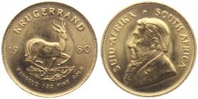 Südafrika - 1980 - Krügerrand - Springbock - 1 Unze - st