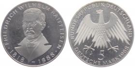 BRD - J 396 - 1968 - Friedrich Wilhelm Raiffeisen - 5 Mark - PP