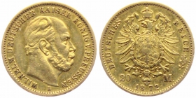 Preussen - J 243 - 1872 B - Kaiser Wilhelm I. (1861 - 1888) - 20 Mark - ss
