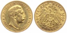Preussen - J 251 - 1900 A - Wilhelm II. (1888 - 1918) - 10 Mark - vz